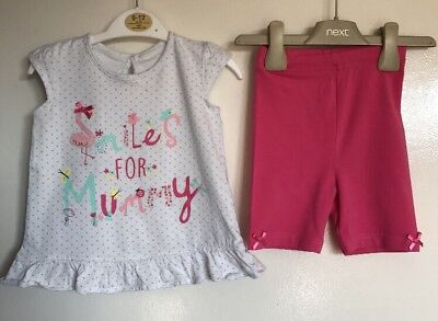 George Baby Girls 2 Piece Summer Outfit. Age 12-18 Months