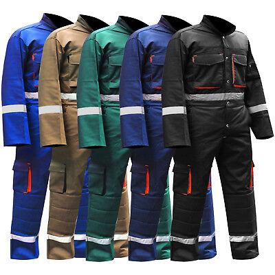 Mens Overalls Boiler Suit Coveralls Work Wear Mechanics Working Protective Suit