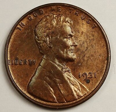 1931-s Lincoln Head Cent.  Red Brown UNC.  131761