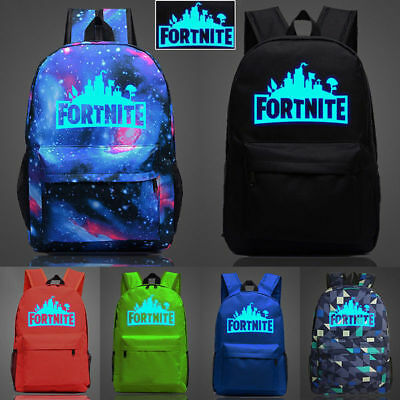 Fortnite Battle Royale Backpack Rucksack School Bag GLOW IN DARK Boys Girls lqp