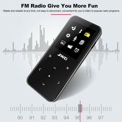 JWD 8GB MP3 MP4 Lossless Music Player FM Bluetooth Voice Recorder TF Slot H6K0
