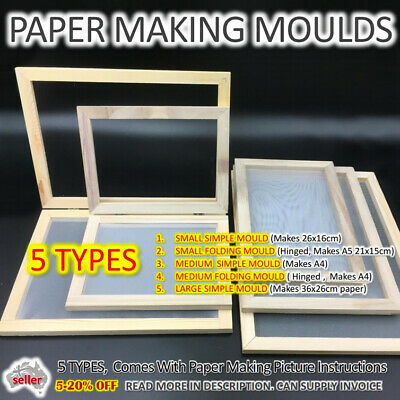 Paper Making Mould Kit Screen Frame DIY Craft Gift Handcraft Recycling Paper Art