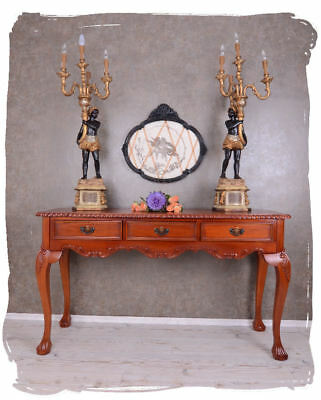 Giant Console Table Mahogany Wood Wall Console Carvings