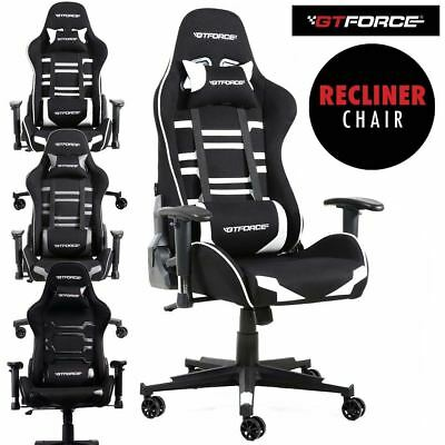 Gtforce Evo Ct Reclining Sports Racing Gaming Office Desk Pc Car Fabric Chair