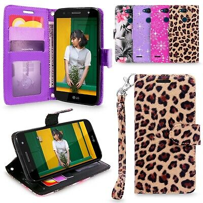 For LG X Power 3 PU Leather ID Card Slots Wallet Flip Folding Stand Case Cover