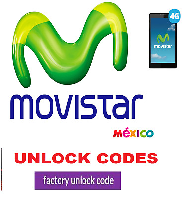 Movistar Mexico Samsung Sony Lumia Blackberry Alcatel Kyocera HTC Unlock Codes