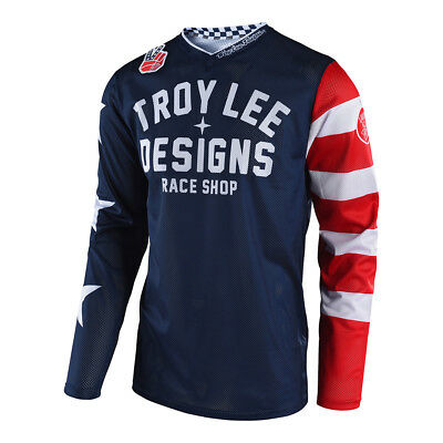 Troy Lee Designs GP Air Americana Mens MX Offroad Jersey Navy