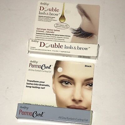 NEW Godefroy Double Lash & Brow 3ml + PermaCurl Black