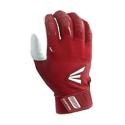 Easton Walk Off Youth Small White/Red Baseball Batting Gloves Pair