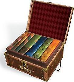 Harry Potter Hogwarts Trunk Book Collection [New] Hardback Book 1-7 All Books