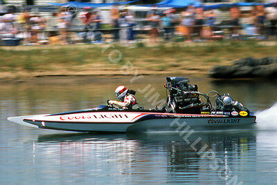 Drag Racing Drag Boat Photo Top Fuel Hydro Coors Light Fred Bray 1986