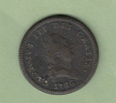 1786 Isle of Man One Penny Coin - George III -