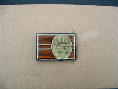 Large Mouth Bass Brass Belt Buckle Made In Usa By Nap Solid Brass 1984