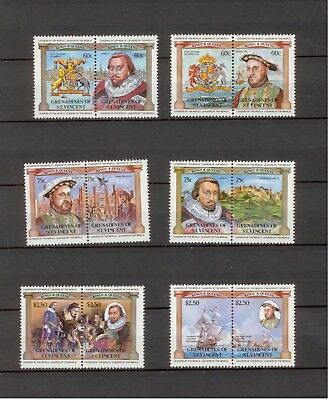 PC081 Grenadines ofSt. Vincent Kings & Queens set (mnh)