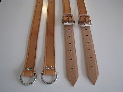 Hand Made PORSCHE 356 Brown Leather Rear Back Seat Luggage Suitcase Straps Belts