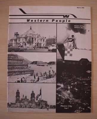 March 1984 Western Airlines Western People Employee Magazine Mexico City