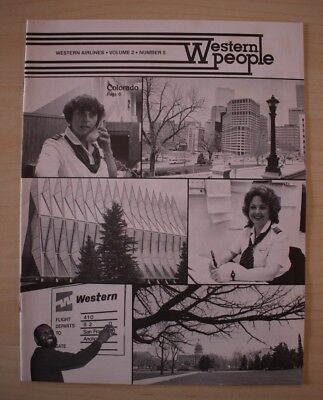 1984 May Western Airlines Western People Employee Magazine Denver Colorado Spgs