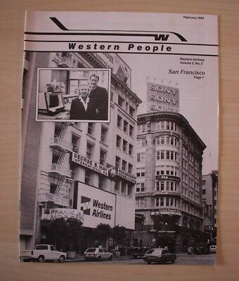 February 1984 Western Airlines Western People Employee Magazine San Francisco