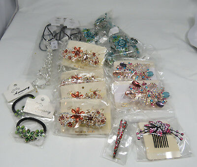 Wholesale Sellers Lot of 23 New Hair Accessories Comb Headband Clip Barrette