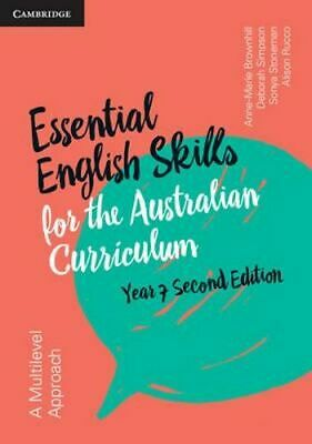 NEW Essential English Skills for the Australian Curriculum Year 7 By Anne-Marie