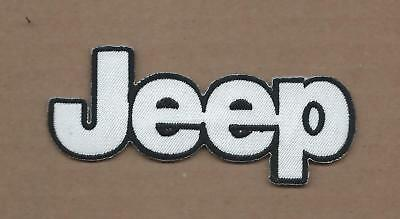 New 1 1/2 X 4 Inch Jeep Iron On Patch Free Shipping