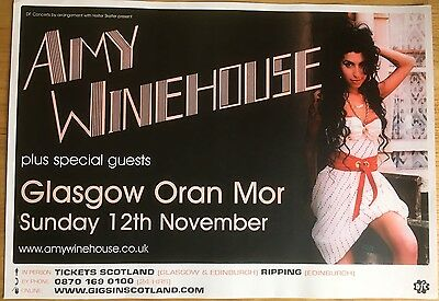 Amy Winehouse - Rare Concert/gig poster, Nov 2007, Glasgow