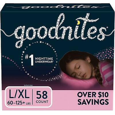 Bedtime Underwear for Girls Comfortable n stretchy Size 8-14, 58 ct. 60-125 lbs.