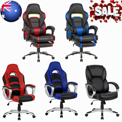 Ergonomic Office Chairs Leather Racing Style Reclining Computer Gaming Executive