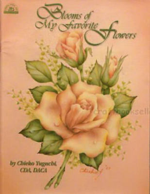 Blooms of My Favorite Flowers Chieko Yuguchi Painting Book NEW