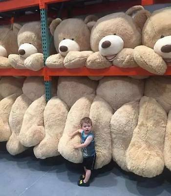 """2019 Giant 99""""/2.5m USA Teddy Bear Huge Doll Plush Only Cover No Cotton Toy Soft"""