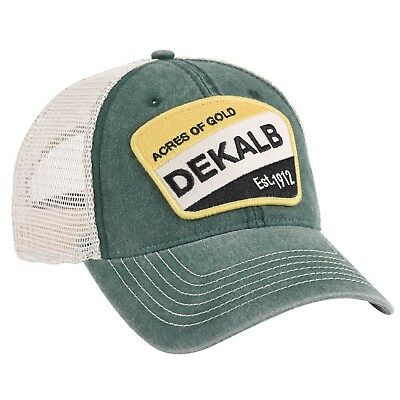 DEKALB SEED *WASHED GREEN & TAN MESH BACK VINTAGE* Logo CAP HAT *BRAND NEW* DS03
