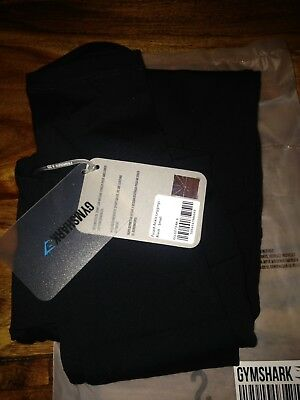 a547b343d9fd65 GYMSHARK FUSED ANKLE Leggings Black Size Small New With Tags ...