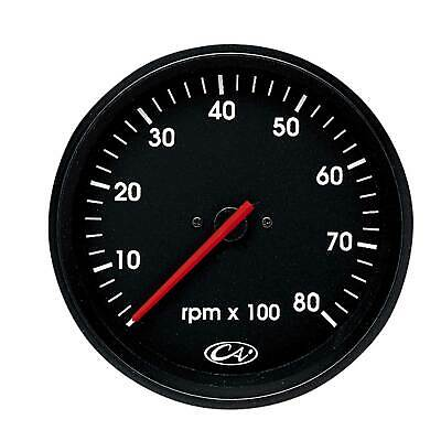 Smiths International Tachometer / Rev Counter 100mm - Black Face - Chrome Bezel