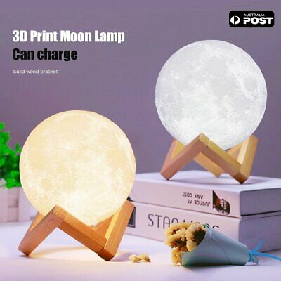 Dimmable 3D Magical Moon Lamp USB LED Night Light Moonlight Sensor Touch Lamp