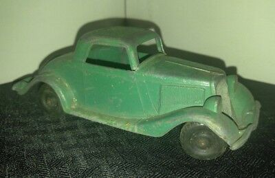 "Vintage HUBLEY #404 Green 5.75"" Ford Coupe VG 4.0 Die Cast Metal"