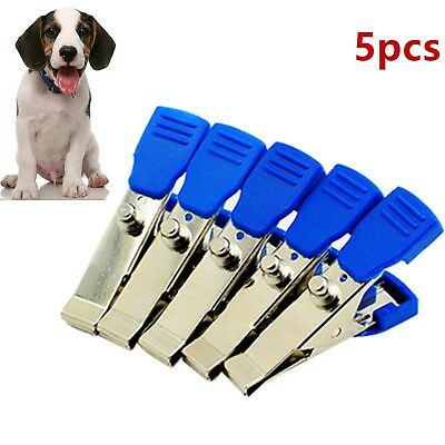 5Pcs Veterinary VET EKG/ECG Alligator Electrode Clips Universal Connection Snap