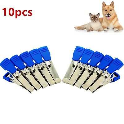 10Pcs Veterinary EKG/ECG Alligator Electrode Clips Universal Connection Snap A++