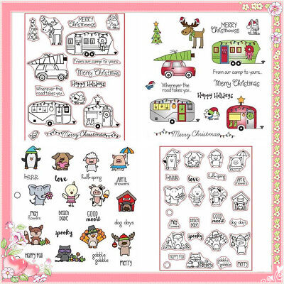 Christmas Animals Vehicle Clear Stamp DIY Handcraft Scrapbooking Silicone Seal