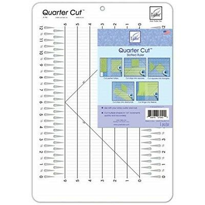 "June Tailor Quarter Cut Slotted Ruler-11-1/4""x16"""