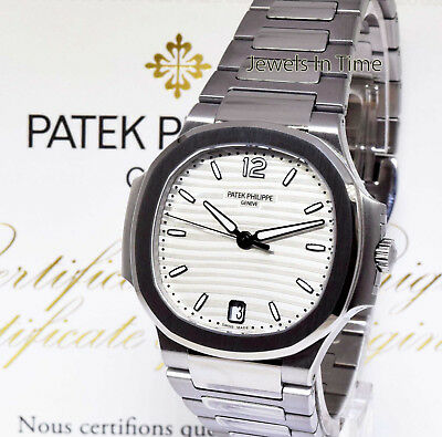 Patek Philippe NEW Nautilus Steel Ladies Automatic Watch Box/Papers 7118/1A-010