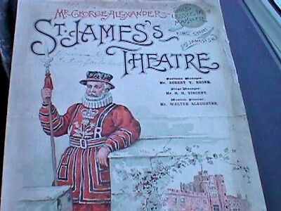 St. James's Theatre, London - 1896 Programme, As You Like It (A/F)