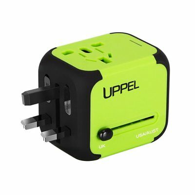 Universal Power Plug Travel Adapter Dual USB Charger for US EU UK AU Safety Fuse