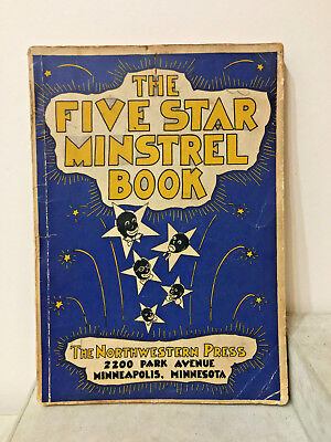 Vintage The Five Star Minstrel Book plays Black Americana 1938 LeRoy Stahl