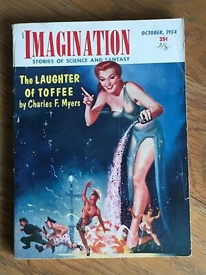 Imagination - US SF/Fantasy digest Oct 1954 - The Laughter of Toffee - Myers etc