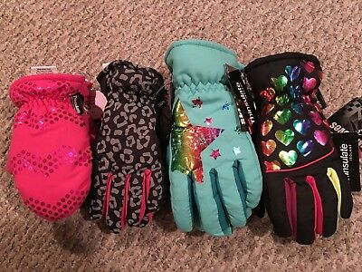 New Girls SO Thinsulated Gloves and Mittens Assorted Prints and Sizes
