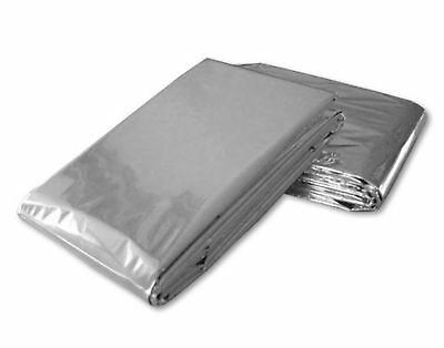 100 PACK • Emergency Solar Blanket Survival Safety Insulating Mylar Thermal Heat