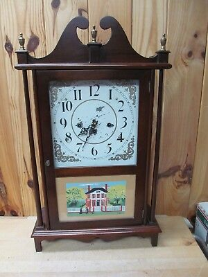 "Large 26""+ Antique/Vintage Mantel Clock German Works 3-Key Wind Chiming"