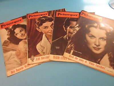 Vintage Picturegoer Film Magazine. 4 Issues from 1951. Used Condition.