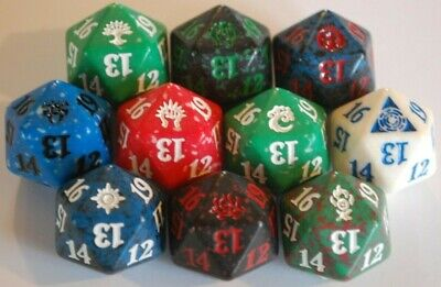 ***10x Ravnica Guilds Life Counter Dice*** Spindown D20 MTG Die Magic Card Kits