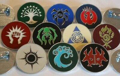 ***10x Metal Ravnica Pins*** MTG Magic Guild Kits Dimir, Boros, Izzet, Rakdos...